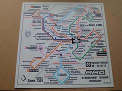 HALTEKAART Stadsdienst TILBURG - BBA ( Materiaal Harde Plastiek : Form. 25 X 25 Cm. ) Mrt '89 - 3 ( Zie Foto's ) ! - Titres De Transport
