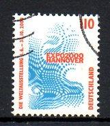 ALLEMAGNE. N°1841 De 1998 Oblitéré. Hanovre 2000. - 2000 – Hanover (Germany)