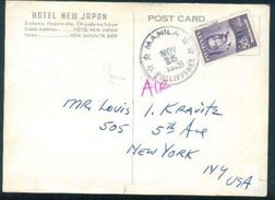 G121-  Postal Used Post Card. Posted From Pilipinas Philippines To USA. United State Of America. - Philippines