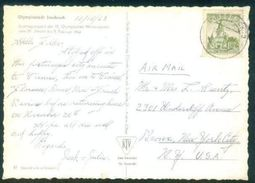 G122-  Postal Used Post Card. Posted To USA. United State Of America. Olympic Innsbruck 1964. - Philippines