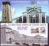 FRANCE 2012 - Bloc Souvenirs Le Plus Beau Timbre De L'année 2012 Belfort  - Neuf ** - Blocs Souvenir