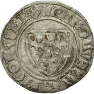 France, Charles VI, Blanc Guénar, La Rochelle, TTB, Billon, Duplessy:377A - 1380-1422 Charles VI Le Fol