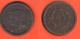 USA One Cent 1854 Rotated Varietal Axis United States Of America Varietà - Federal Issues