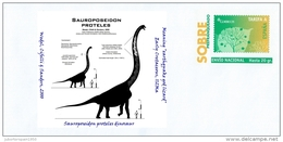 "SPAIN, 2017 Sauroposeidon Proteles Dinosaur Early Cretaceous, 112Ma Meaning ""earthquake God Lizard"" - Stamps"