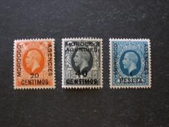 المغرب British Post Spanish Morocco 1936 -1937 Great Britain Postage Stamps Overprin - Morocco Agencies / Tangier (...-1958)