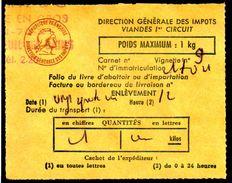 Fiscal, Fiscaux, Taxe Contrôle Des Viandes N° 120 - 1 Kg - Fif : AT51 - Papier Orange - Fiscale Zegels