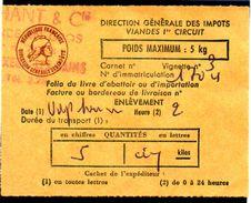 Fiscal, Fiscaux, Taxe Contrôle Des Viandes N° 122 - 5 Kg - Fif : AT51 - Papier Orange - Fiscale Zegels