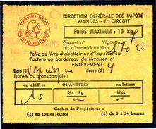 Fiscal, Fiscaux, Taxe Contrôle Des Viandes N° 123 - 10 Kg - Fif : AT51 - Papier Orange - Fiscale Zegels