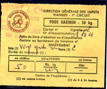 Fiscal, Fiscaux, Taxe Contrôle Des Viandes N° 125 - 50 Kg - Fif : AT66 - Papier Orange - Fiscale Zegels