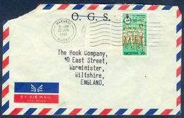 G137- Postal Used Cover. Posted From Nigeria To England. UK. 10th National Youth Servive CORPS. - Nigeria (1961-...)