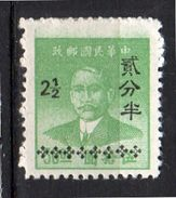 2½ Cents On $50 Yellow Green Mint VF And Scarce (735) - China