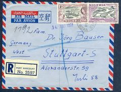 G138- Postal Used Cover. Posted From Nigeria To West Germany. Timber. Jebba Bridge & River. - Nigeria (1961-...)