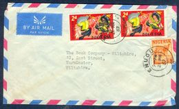 G139- Postal Used Cover. Posted From Nigeria To England. UK. Animals. Camel. Birds. - Nigeria (1961-...)