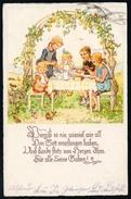 A5090 - Alte Glückwunschkarte - Künstlerkarte - Schenkel - Gel 1937 Bad Lausick Sonderstempel - Geburtstag