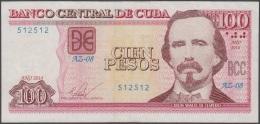 "2014-BK-27 CUBA 100$ 2014 CESPEDES. REPLACEMENT REEMPLAZO ""AZ"" XF. - Cuba"