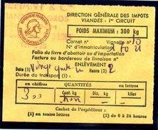 Fiscal, Fiscaux, Taxe Contrôle Des Viandes N° 127 - 300 Kg - Fif : AT66 - Papier Orange - Fiscale Zegels
