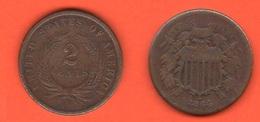 USA 2 Cent 1864 Large Motto United States Of America - Bondsuitgaven