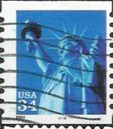 Stati Uniti Lotto N.459 Del 2001 Yvert N.3555 Usato Con 4444 Sul Bordo Inferiore - Etats-Unis