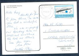 G161-  Postal Used Post Card. Posted From Spain To England. UK. EUROPA. - Spain