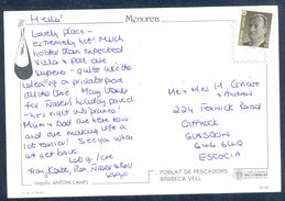 G162-  Postal Used Post Card. Posted From Espan To England. UK. Spain. - Spain
