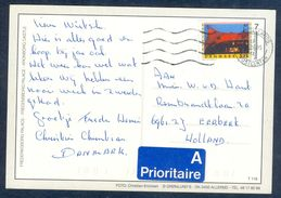 G163-  Postal Used Post Card. Posted From Denmark To Holland. - Denmark