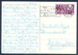 G167- Postal Used Post Card. Posted From Danmark. Grand Hotel Odense. Flag. Denmark - Denmark