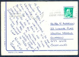 G172- Postal Used Post Card. Posted From Spain To Scotland. Tree. See Life. - Spain