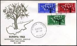 (E1419)  Grieks Cyprus  - FDC - Europa CEPT 1962 - Europa-CEPT