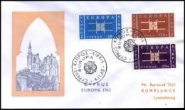 (E1420)  Grieks Cyprus  - FDC - Europa CEPT 1963 - Europa-CEPT
