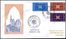(E1424)  Grieks Cyprus  - FDC - Europa CEPT 1963 - Europa-CEPT