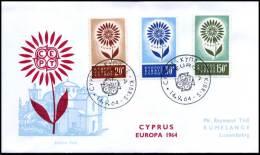 (E1435)  Grieks Cyprus  - FDC - Europa CEPT 1964 - 1964