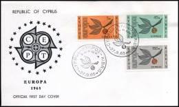 (E1437)  Grieks Cyprus  - FDC - Europa CEPT 1965 - Europa-CEPT