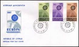 (E1441)  Grieks Cyprus  - FDC - Europa CEPT 1967 - Europa-CEPT