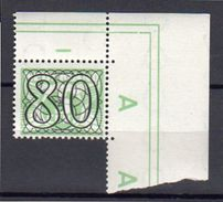 80 Cents CORNER COPY MNH (tr3) - 1891-1948 (Wilhelmine)