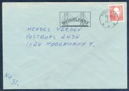 G178- Postal Used Cover. Posted From Denmark To England. UK. Special Post Mark. Bridge. - Denmark