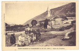 Cpa Saint Dalmas De Valdeblore - Eglise Des Templiers ( Chasseurs Alpins ) - France