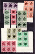 Württemberg 1923, Dienstmarken, Blöcke/Rand - Wuerttemberg