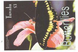 2003 Tuvalu Butterflies Souvenir Sheet MNH Below Face !!!!! - Mariposas