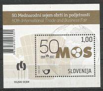SI 2017-12 50A°M O S, SLOVENIA, S/S, MNH - Slovénie