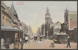 Bourke Street, Melbourne, Victoria, C.1910 - Postcard - Melbourne