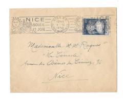 06 – Alpes Mmes « NICE »LSI - 20gr.- Tarif à 15c. (6.1.1949/30.6.1957)N°874 - 15F  Madame De Sévigné - Marcophilie (Lettres)