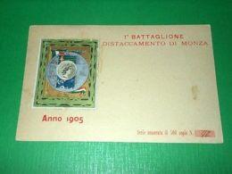Cartolina Militaria - 30 Regg. Fanteria - 1 Battaglione Distaccamento Di Monza - Reggimenti