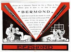 Ancienne Publicité Pour La Plume Et Stylos BERMOND - 2 Scans - Autres