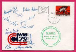 FDC - Bowling - WM 76 - Wien - Ersttag 1976 - Autographes De L'équipe Des Joueurs - Republik Osterreich S4 - Sellos