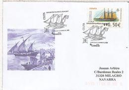 CEUTA CC CON ATM BARCO Y MAT JABEQUE S XIX NAVEGACION SHIP VELERO VELA - Barcos