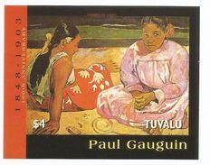 2004 Tuvalu Gaugain Art Paintings Souvenir Sheet MNH  @ BELOW FACE!!!! - Sonstige