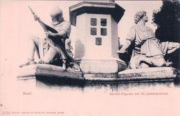 Basel, Sockel-Figuren Am Jakobdenkmal (2055) - BS Bâle-Ville