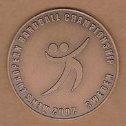 AC - 2002 MEN'S EUROPEAN HANDBALL CHAMPIONSHIP MEDAL SWEDEN - Handball