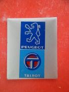 Plaque Serigraphiée Auto Voiture Automobile TALBOT Peugeot - Plaques Publicitaires