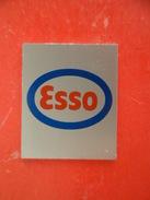 Plaque Serigraphiée Auto Voiture Automobile ESSO - Petrole Essence Gasoil - Advertising (Porcelain) Signs